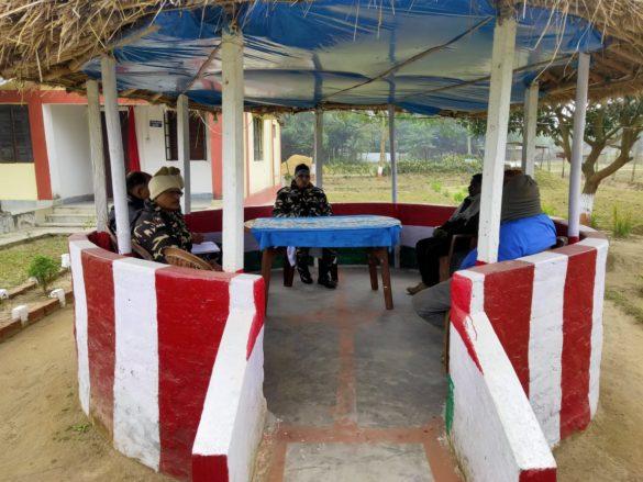 SSB Coordination meeting with villagers at Indo Nepal border in Kishanganj Bihar