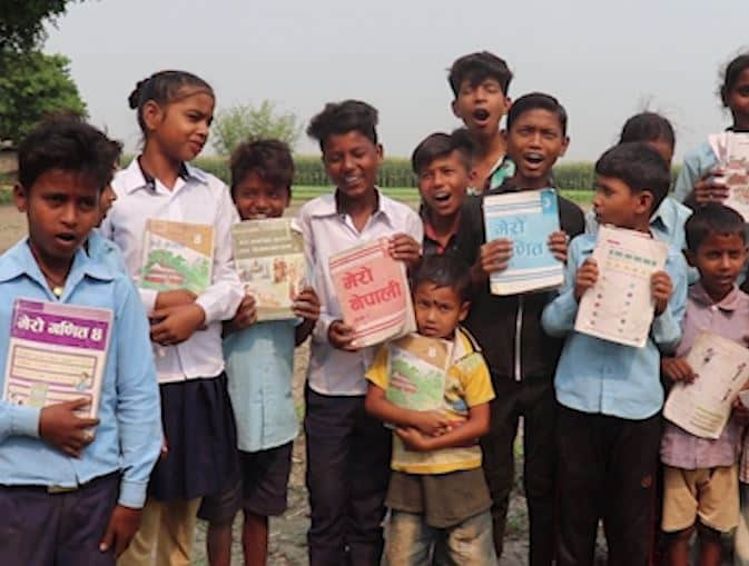 Kids of an Indian village learn patriotism from Nepal