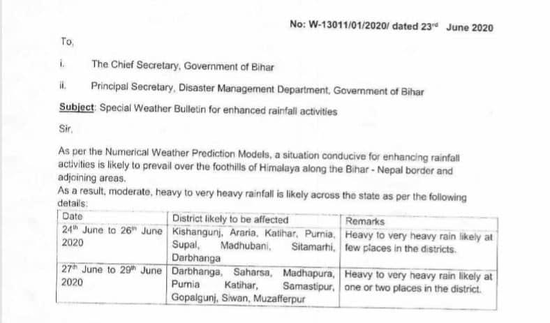 Flood warning in a dozen districts of Bihar including Seemanchal