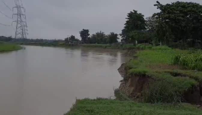 First Monsoon rain faces Purnia's Baisai to face erosion