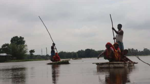 No boat no road for this island village in Bihar