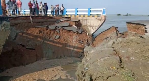 Gopalganj Bridge: Bihar government's negligence surfaced, this person had given warning a day before