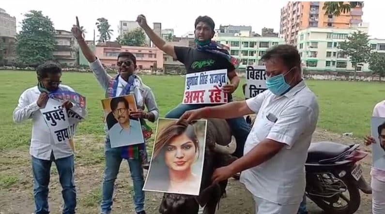 Watch the gimmick of politicians on the body of Sushant Singh