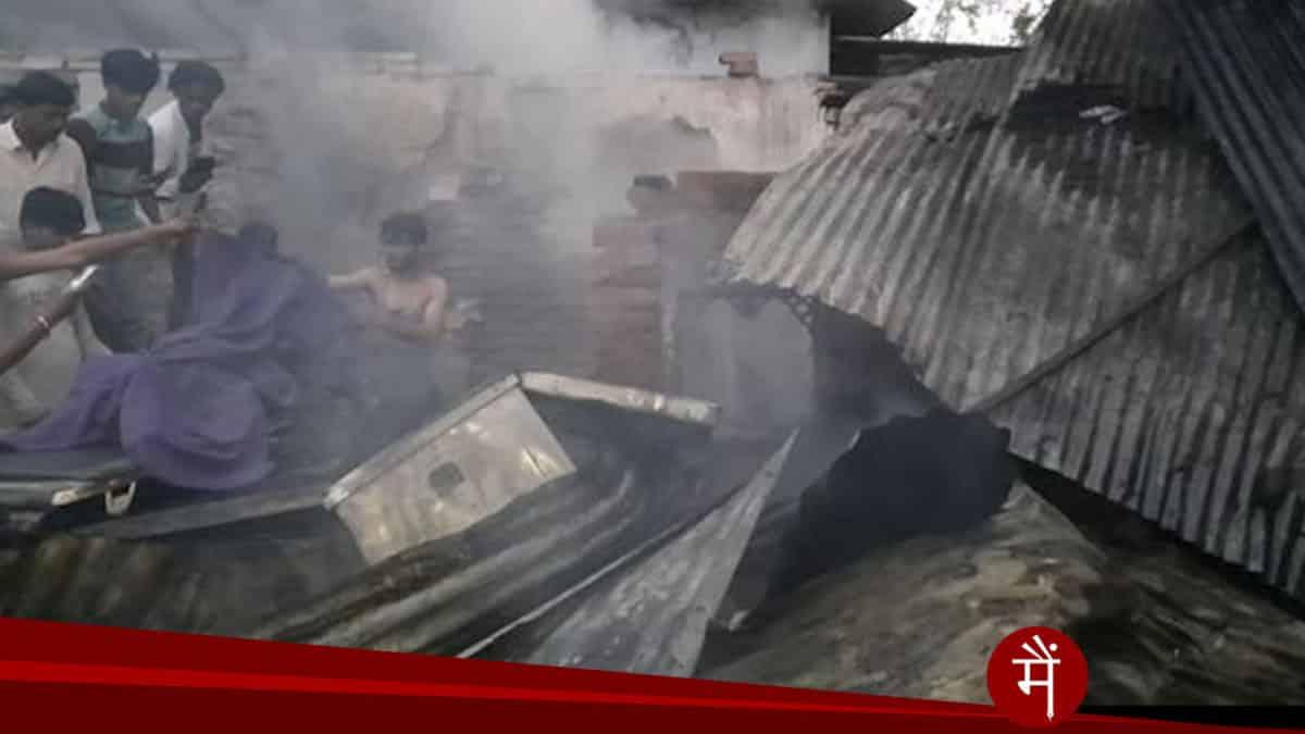 आगजनी में पिता सहित 4 मासूम की मौत, खौफनाक सिलेंडर ब्लास्ट